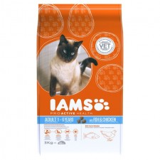 Iams Adult Dry Cat Food Ocean Fish And Chicken 3kg
