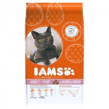 Iams Adult Dry Cat Food Salmon And Chicken 3kg