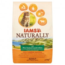 Iams Naturally Adult Cat with New Zealand Lamb And Rice 2.7kg