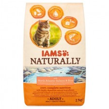 Iams Naturally Adult Cat with North Atlantic Salmon And Rice 2.7kg