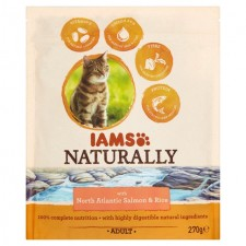 Iams Naturally Adult Cat with North Atlantic Salmon And Rice 270g