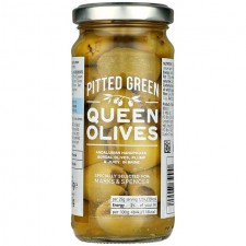 Marks and Spencer Pitted Green Queen Olives 225g