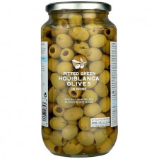 Marks and Spencer Pitted Green Hojiblanca Olives in Brine 920g