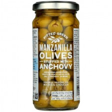 Marks and Spencer Pitted Green Manzanilla Olives Stuffed with Anchovy 240g
