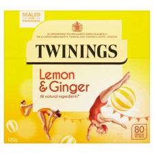 Twinings Lemon and Ginger 80 Teabags