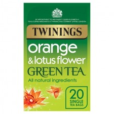 Twinings Green Tea with Orange and Lotus Flower 20 Teabags