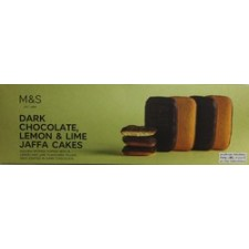 Marks and Spencer Dark Chocolate Lemon and Lime Jaffa Cakes 125g