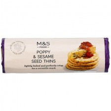 Marks and Spencer Poppy and Sesame Thin Crackers 150g