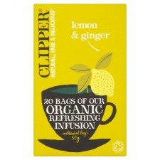 Clipper Organic Lemon and Ginger Infusion 20 Teabags