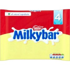 Nestle Milkybar White Chocolate 4x25g bars