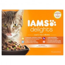 Iams Delights Meat And Fish in Gravy 12 x 85g