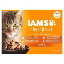 Iams Delights Meat And Fish in Jelly 12 x 85g