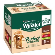 Winalot Perfect Portions Beef Chicken and Lamb Pouch 24 x 100g