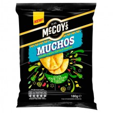 McCoys Muchos Nacho Sour Cream and Onion 180g