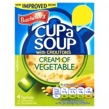 Retail Pack Batchelors Cup A Soup with Croutons Cream of Vegetable 9 x 4 Sachet Packs