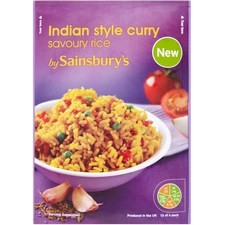Sainsburys Indian Style Curry Savoury Rice 120g
