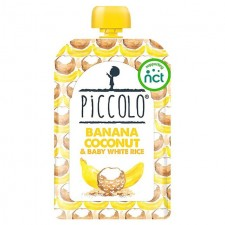 Piccolo Organic Banana Coconut and Baby White Rice 100g