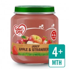 Cow And Gate 4 Months Juicy Apple and Strawberry Jar 125g