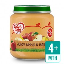 Cow And Gate 4 Months Juicy Apple and Mango Jar 125g
