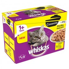 Whiskas Casseroles Poultry in Jelly 12 x 85g