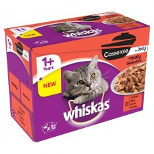 Whiskas Casseroles Meat in Jelly 12 x 85g