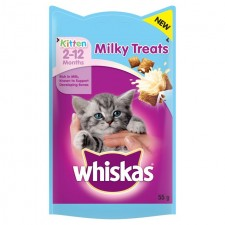 Whiskas Kitten 2 to 12 Months Milky Treats 55g