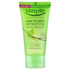 Simple Refreshing Facial Wash Gel Travel Sized Mini 50ml