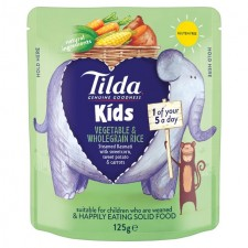 Tilda Kids Sweet Vegetable And Wholegrain Rice 125g