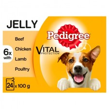 Pedigree Pouches Meat Selection in Jelly 24 x 100g
