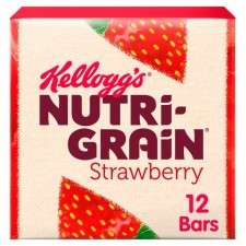 Kelloggs Nutri Grain Bars Strawberry 12 Pack