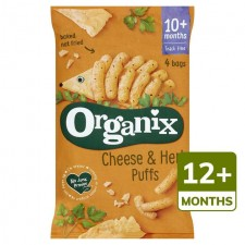 Organix 12 Month Goodies Organic Cheese and Herb Puffs 4x15g