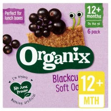 Organix 12 Month Goodies Organic Blackcurrant Cereal Bars 6 x 30g