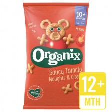 Organix 12 Month Goodies Organic Saucy Tomato Noughts and Crosses 4 x 15g
