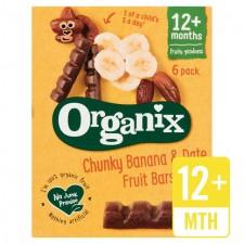 Organix Goodies Organic Fruit Bars Banana and Date 6 x 17g 12 Months