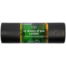 Marks and Spencer Recycled Wheelie Bin Liners 290L 10 Pack