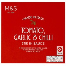 Marks and Spencer Tomato Garlic and Chilli Stir In Sauce 150g