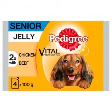 Pedigree 7+ Pouch Chicken and Beef in Jelly 4 x 100g