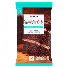 Tesco Chocolate Sponge Cake Mix 400g