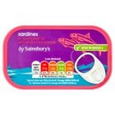 Sainsburys Sardines In Chilli Oil 120g
