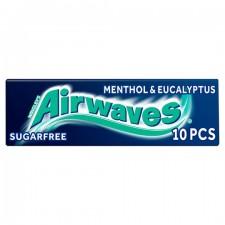 Wrigleys Airwaves Menthol and Eucalyptus Sugarfree Gum 10 Pieces