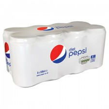 Pepsi Diet 8 x 330ml Cans