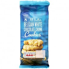 Marks and Spencer All Butter Belgian White Chocolate Chunk Cookies 250g