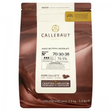 Callebaut Finest Belgian Chocolate Dark 70% Extra Bitter Callets From Roasted Whole Cocoa Beans 2.5kg
