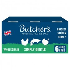 Butchers Simply Gentle Chicken Salmon and Turkey Variety 6 x 390g
