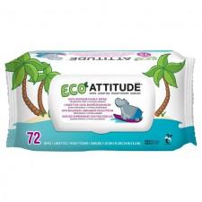 Attitude Eco Baby Wipes 100% Biodegradable 72 per pack