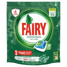 Fairy All In One Dishwasher Tablets Original 29 Pack