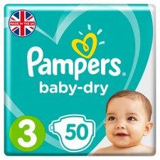 Pampers Baby Dry Nappies Size 3 x 50