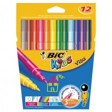 Bic Kids Washable Felt Tip Pens Assorted Colours 12 per pack