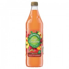Robinsons Fruit Creations No Added Sugar Peach And Raspberry Drink 1L