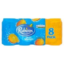 Rubicon Mango Sparkling Drink 8 X 330ml Cans